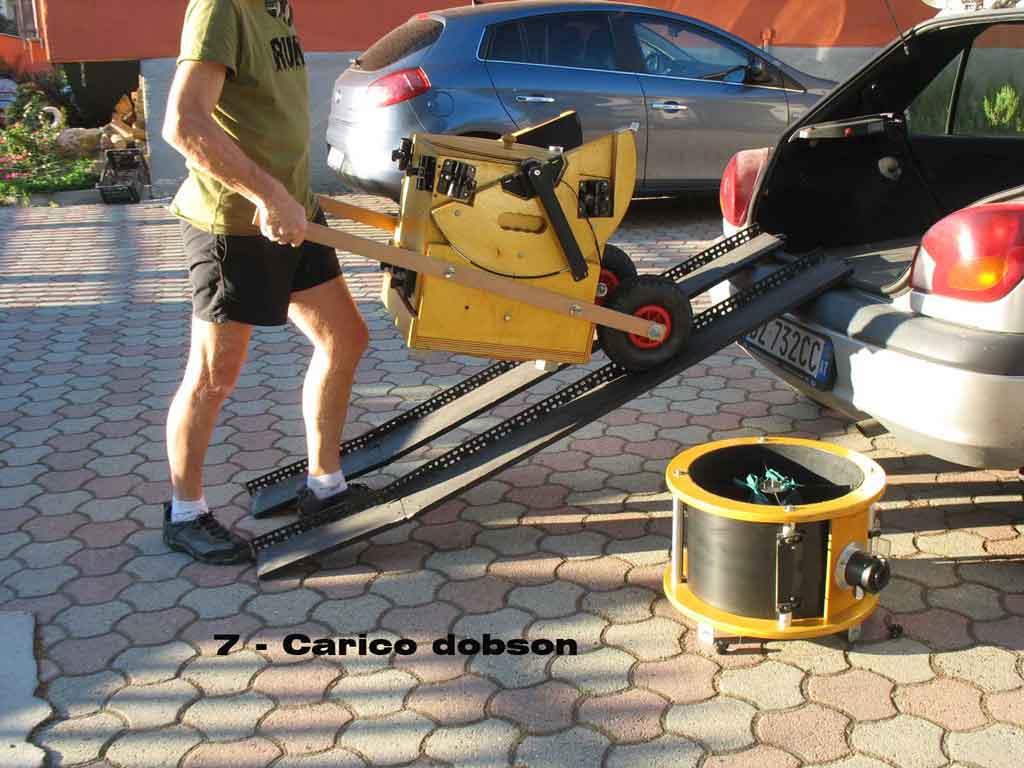 Rampe pieghevoli per carico telescopio dobson in auto for Rampe di carico per auto
