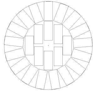 Una disposizione nel fusto per per 75 kg di zavorra in normali mattoni pieni